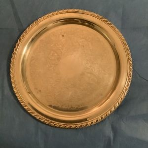 """ONEIDA Vtg Silverplated 12"""" Round serving plate"""